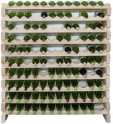 10 Layers of 12 Bottles Wine Rack Finish: Natural