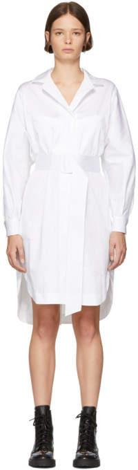 Opening Ceremony White Poplin Belted Shirt Dress