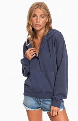 Roxy Blue Girls Who Slide Fleece Sweatshirt