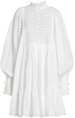 By Ti Mo Lace Eyelet Shift Dress