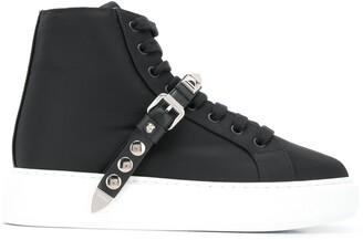 Prada studded strap sneakers