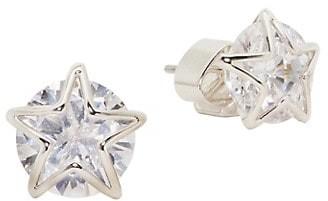 Kate Spade Something Sparkly Silvertone & Cubic Zirconia Star Stud Earrings