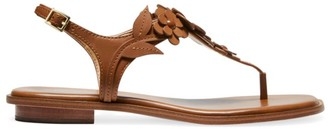 MICHAEL Michael Kors Flora Leather Thong Sandals