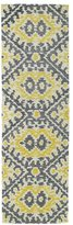Leon Hand-tufted de Boho Yellow Rug (2'6 x 8')