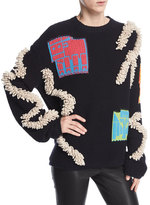 Peter Pilotto Oversized Patchwork Knit Sweater