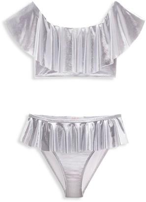 Stella Cove Little Girl's 2-Piece Metallic Bikini Set