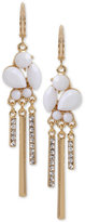 INC International Concepts M. Haskell for Gold-Tone Pavé & White Stone Chandelier Earrings, Only at Macy's