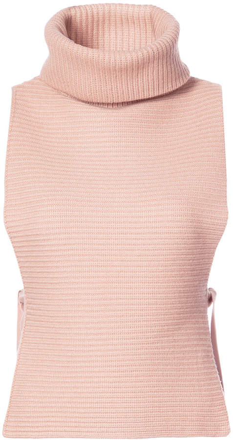 Tome ribbed detail roll neck knitted top