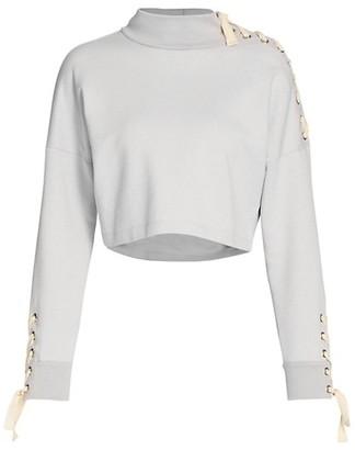 JONATHAN SIMKHAI STANDARD Lace-Up Sweatshirt