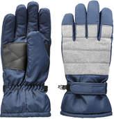 Joe Fresh Men's Lined Ski Gloves, JF Midnight Blue (Size L/XL)
