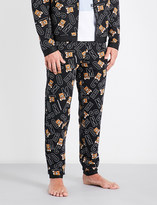 Moschino Bear Logo relaxed-fit cotton-jersey jogging bottoms