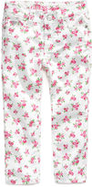 GUESS Kids Jeans, Little Girls Floral-Print Skinny Jeans