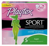 Playtex Sport Plastic Applicator Unscented Super Absorbency Tampons 36-ct.