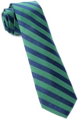 Tie Bar Twill Stripe Kelly Green Tie