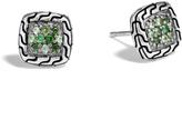 John Hardy Women's Classic Chain Stud Earring in Sterling Silver with Black Sapphire