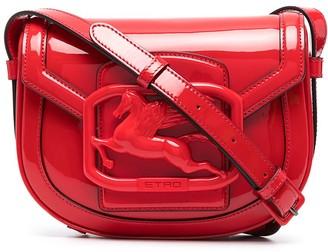 Etro Pegaso patent leather crossbody bag