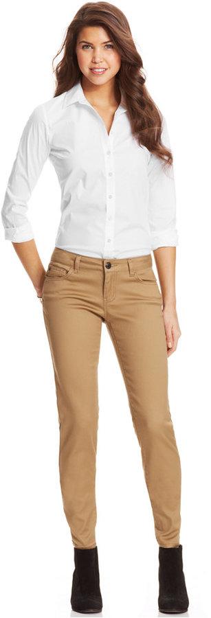 Celebrity Pink Jeans Skinny Jeans, Khaki Wash
