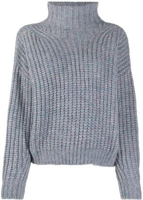 Isabel Marant Ribbed Knit High-Neck Jumper