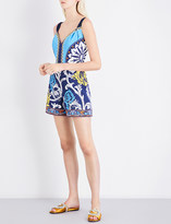 Mary Katrantzou Sweetheart neckline crepe playsuit