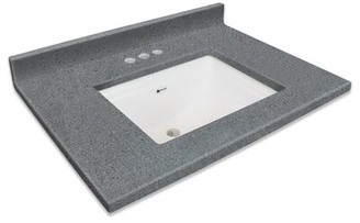 "Transolid Charlotte 37"" Single Bathroom Vanity Top Transolid Top Finish: Midnight Chrome"