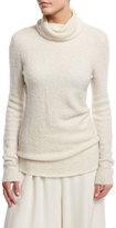The Row Rubida Funnel-Neck Sweater, Ivory