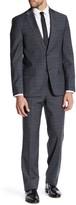 Ben Sherman Ruxley Grey Plaid Two Button Notch Lapel Suit