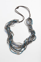 J. Jill Blue Beads Cascading Necklace