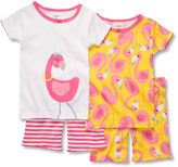 Carter's Kids Pajamas, Little Girls 4-Piece PJ Set