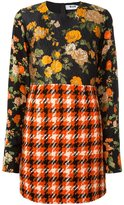 MSGM patchwork dress - women - Polyamide/Polyester/Wool - 38