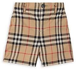 Burberry Baby Boy's Sean Woven Cotton Check Shorts