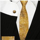 Bestow Neckties Bestow Yellow Paisley Ties Set