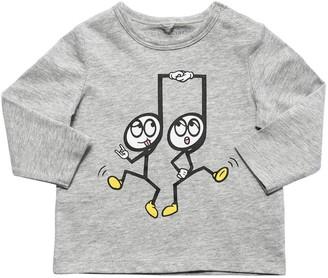 Stella McCartney Kids Printed L/s Cotton Jersey T-shirt