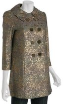 gold floral brocade '24 Karat' double breasted coat