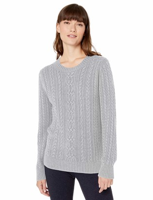 Amazon Essentials Women's Standard Fisherman Cable Crewneck Sweater