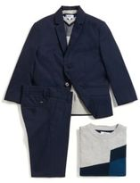 HUGO BOSS Kids' regular-fit suit trousers in cotton twill