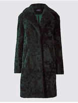 M&S Collection Textured Faux Fur Coat