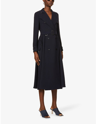 Max Mara Piombo double-breasted crepe midi dress
