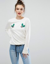 Daisy Street Christmas Holly Sweater