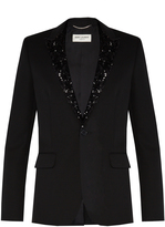 Saint Laurent Sequinned-lapel single-breasted blazer