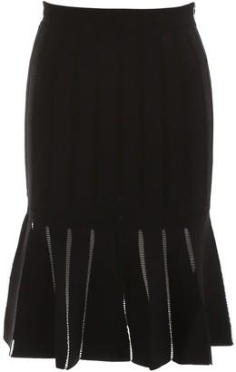 Alexander McQueen Ruffled Hem Midi Skirt