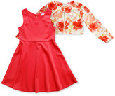Sweet Heart Rose 2-Pc. Dress & Jacket Set, Little Girls (2-6X)