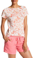 Tommy Bahama Flamingo Sanctuary Short Sleeve Linen Tee