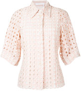 Chloé eyelet lace shirt - women - Cotton/Viscose - 36