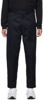 Comme Des Garcons Homme Comme des Garcons Homme Navy Cotton Twill Trousers