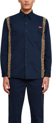 Dickies 1922 X Opening Ceremony Contrast Leopard Print Shirt