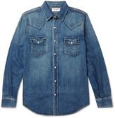 Saint Laurent - Slim-fit Washed-denim Western Shirt