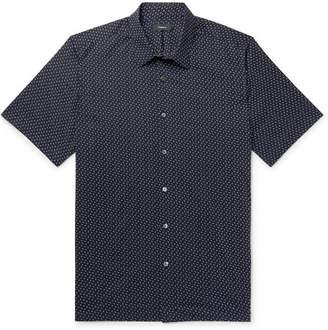 Theory Irving Printed Cotton-Poplin Shirt