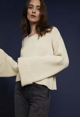 Singer22 Jude Ribbed Cuff Crop Sweater