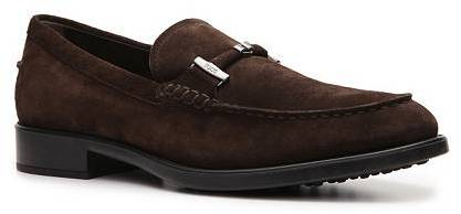 Tod's Suede Buckle Loafer