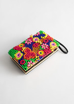 And other stories Floral Fruits Beaded Clutch